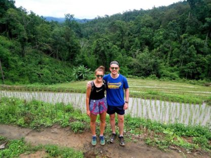 Chiangmai Elephant Home - 3 Days 2 Nights Elephant Experience - Trekking through the rice fields