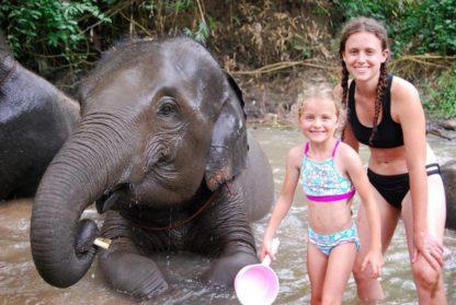 Chiangmai Elephant Home - Half Day Morning Elephant Experience - Bathing your Elephant