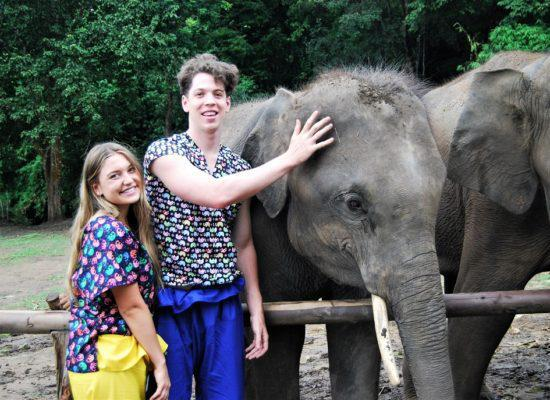 Chiangmai Elephant Home - One day Elephant Experience and ATV - Feeding Elephant
