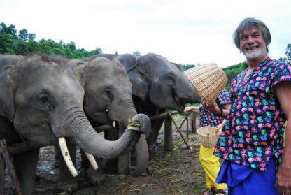 Chiangmai Elephant Home - One day Elephant Experience and Grand Canyon - Feeding your Elephant