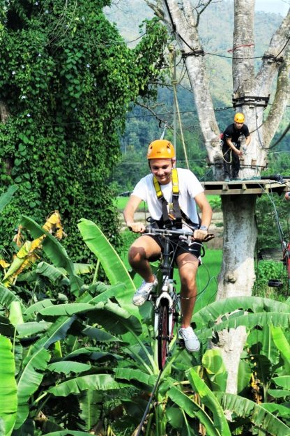 Chiangmai Elephant Home - Zipline Adventure - Air Bicycle