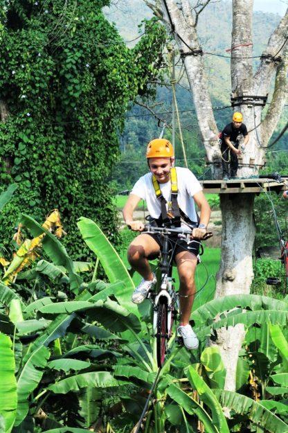 Chiangmai Elephant Home - Zipline Adventure - Air Bicycle