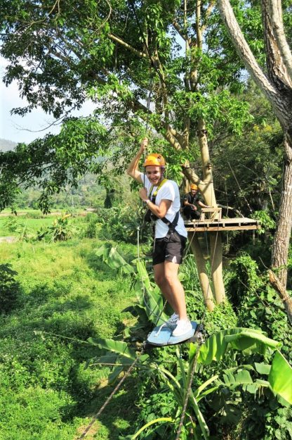Chiangmai Elephant Home - Zipline Adventure - Air Skateboarding
