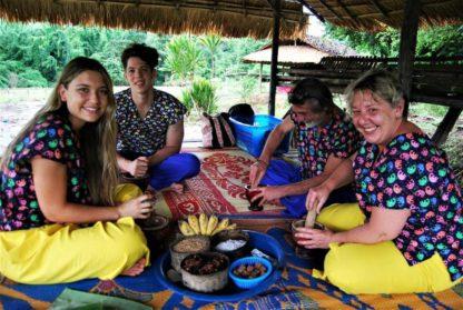 Chiangmai Elephant home - One day Elephant Experience - Make Vitamin Balls for your elephants