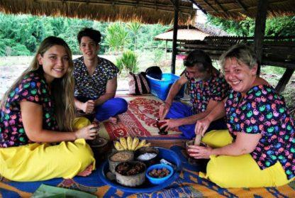Chiangmai Elephant home - One day Elephant Experience and Zipline - Make Vitamin Balls for your elephants