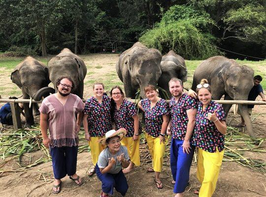 Chiang Mai Elephant Home - 15 Aug 2018 - Half day Morning - Group photos