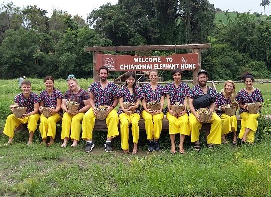 Chiang Mai Elephant Home - 27 Aug 2018 - Half day Morning - Group photos