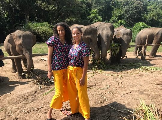 Chiang Mai Elephant Home - 23 Sep 2018 - Half day Morning - Group photos