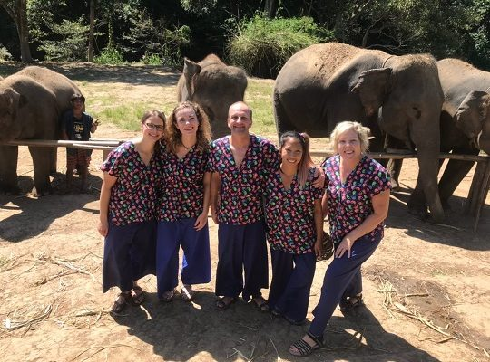 Chiang Mai Elephant Home - 28 Sep 2018 - Half day Morning - Group photos
