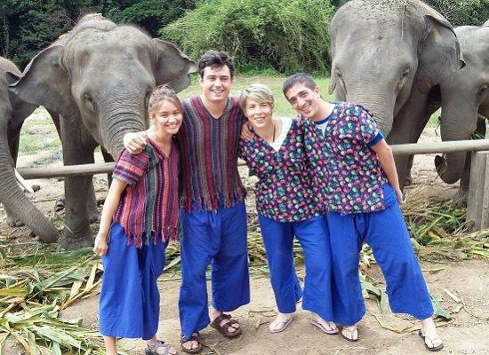 Chiang Mai Elephant Home - 31 Aug 2018 - Half day Morning - Group photos