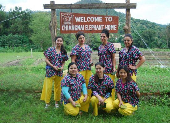 Chiang Mai Elephant Home - 9 Sep 2018 - Half day Afternoon - Group photos