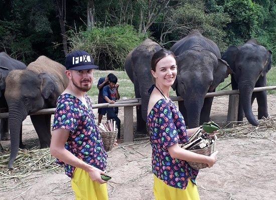 Chiang Mai Elephant Home - 1 Oct 2018 - Full Day Trekking & Elephants - Group photos