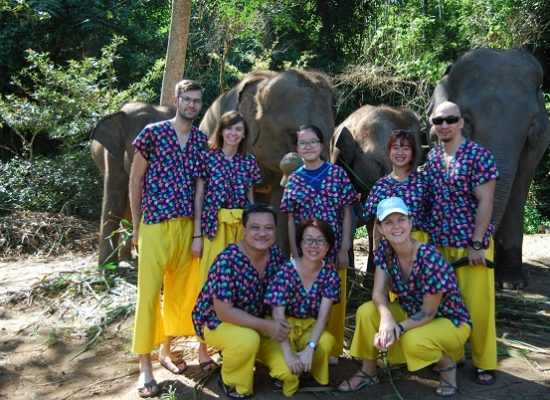 Chiang Mai Elephant Home - 17 Oct 2018 - Half day Morning - Group photos