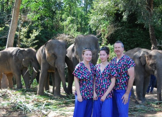 Chiang Mai Elephant Home - 18 Oct 2018 - Half day Morning - Group photos