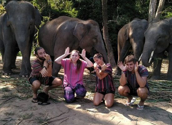 Chiang Mai Elephant Home - 18 Oct 2018 - Half day Morning Special - Group photos