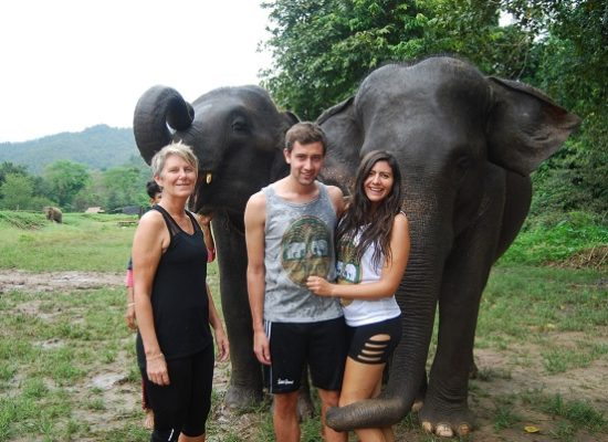 Chiang Mai Elephant Home - 3 Oct 2018 - Half day Morning - Group photos